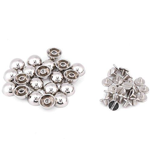 Metalen drukknopen paddenstoelklinknagels leer drukknopen voor kleding jassen jeans dragen armbanden tassen zilver