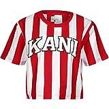 Karl Kani Damen T-Shirts College Stripe weiß XS