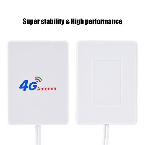 Wendry antenne-signaalversterker, 28dbi High Gain 4G 3G LTE-signaalversterker antenne voor mobiele router voor Huawei E398 / E3276 / E392, met 2,9 m kabel voor mobiele 4G / 3G router, TS9