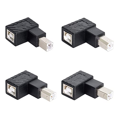 Cablecc 4 pz USB 2.0 B tipo maschio a femmina Adattatore di estensione orizzontale verticale angolato 90 gradi per scanner a disco