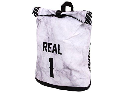Alsino Rucksack Tasche Umhängetasche mit Griff Rucksacktasche Rücktasche Retro Vintage, Variante wählen:Ruck-c003 Real 1