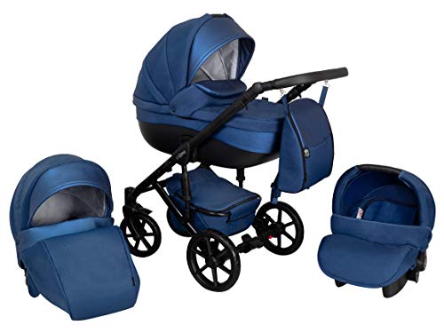 Kombi Kinderwagen 3in1 System Autositz Babyschale Zeo Storm (ST8) Kinderwgen Sportwagen Babywagen Komplettset Buggy Babywanne Kinderbuggy