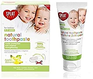 SPLAT Baby Tooth-Paste (40 ml) Natural Toothpaste for Babies 0-3 Years Old - Apple Banana