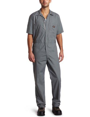 Dickies Men's Big-Tall Short Sleeve Coverall, Gray, 3X/Tall