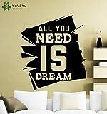 wopiaol Vinilo Decorativo Cotizaciones para Tus sueños Vinilo Cotizaciones la Sala de Estar el Dormitorio Decora un Poste de Pared