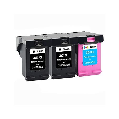 CMDZSW Reemplazo para HP301 para HP 301 XL Compatible para HP 2510 3510 D1010 1510 2540 4500 1050 2050 2050S Impresora (Color : 3)