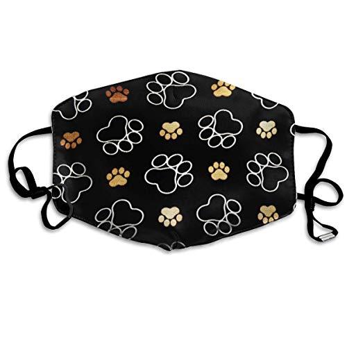 Atmungsaktive Premium Gesichtsschutzhülle,Hundepfote Frauen Männer Anti Wind Staubschutz Schutzhülle Für Skifahren Camping Reisesicherheit, Täglicher Gebrauch