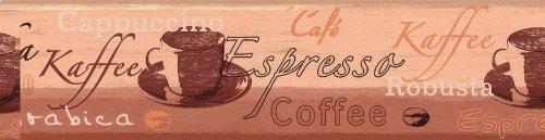 A.S. Création Bordüre Kaffee, braun, gelb, 633910