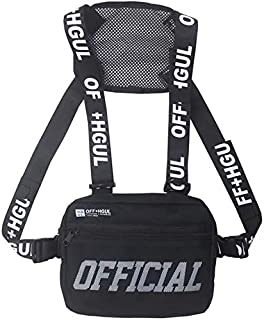 Vest Bag,Unisex Chest Bag Hip Hop Style Vest Crossbody Bag Fashion Chest Rig Vest Waist Bag Multi-Function Portablee Chest...