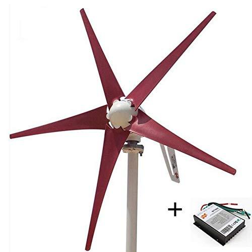 MEIGONGJU Freies Verschiffen AC12V / 24V Bunte Wind Turbine Generator Kleine Windmühle für Haus oder Boot Verwendung mit kostenlosen 600W Wind-Controller,02 24v