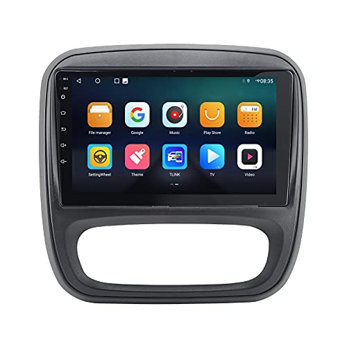 Pantalla táctil de 9 Pulgadas Android 10 2Din Reproductor Multimedia para Coche para Opel Vivaro 2014 para Renault Trafic Autoradio Navegación GPS Grabadora de Cinta estéreo Radio