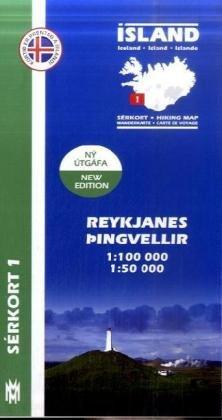 Reykjanes - Pingvellir 1 : 100 000