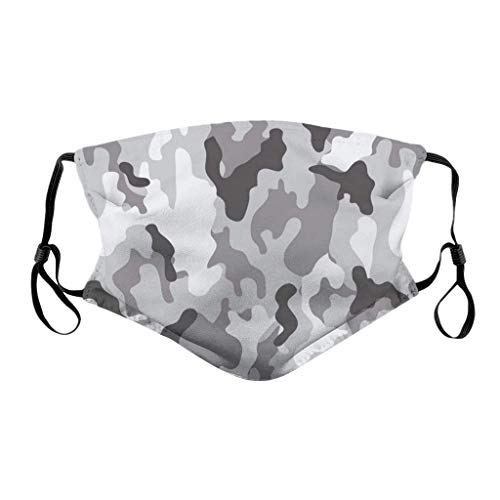 YueLove Face Covering Face Bandanas Unisex Reusable Windproof Anti-Dust Mouth Bandanas Outdoor Camping Motorcycle Running Neck Gaiter With 2 Filters For Teen Men Women