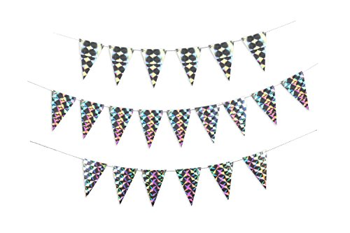 Doiy DYFLAGSHO Holografic Party Flags, Papier