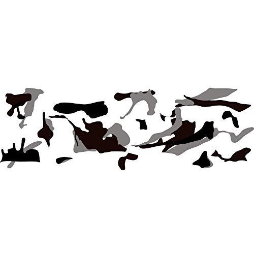 folimac 8,50€/m² Camouflage Autofolie Selbstklebend mit Luftkanäle Schwarz weiß Grau Braun #1401 (100cm x 152cm)