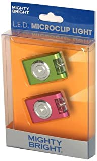 Mighty Bright Green and Pink LED Microclip Light