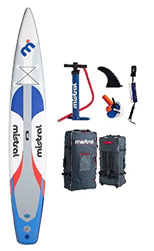 Mistral Emotion - Tabla de surf de remo hinchable (14 x 28 pulgadas, tecnología DSFL, tabla de surf de remo, SUP, incluye SUP de bobina SUPwave.de