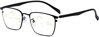 High-Definition Anti-Straling Computer Leesbril Mannen Pure Titanium Half Frame Business Reader Dioptrie +1,0 Tot +3,0,zwa...