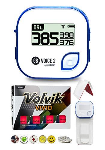 Best Prices! Golf Buddy Voice 2 Golf GPS/Rangefinder Bundle with 1 Dozen Volvik Golf Balls, 1 Belt C...