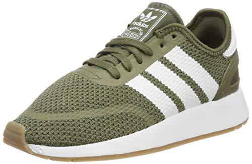 adidas N-5923, Zapatillas de Gimnasia Hombre, Verde (Raw Khaki/FTWR White/Gum4 Raw Khaki/FTWR White/Gum4), 42 EU