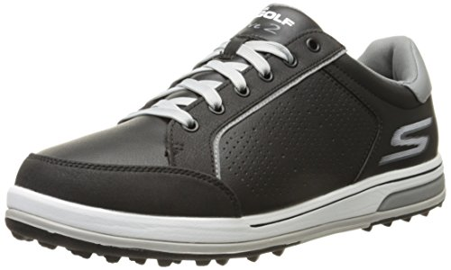 Skechers Men's Go Golf Drive 2 Golf Shoe,Black/White,10.5 M US