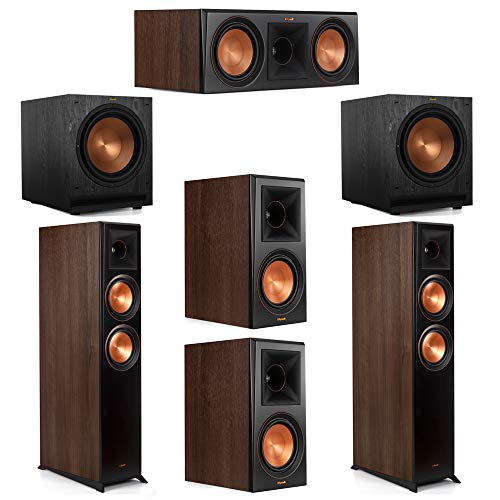 Fantastic Deal! Klipsch 5.2 Walnut System 2 RP-6000F Floorstanding Speakers, 1 Klipsch RP-600C Cente...