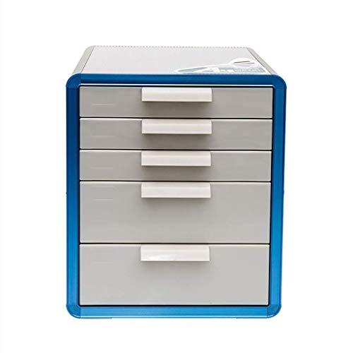 LHQ-HQ Aluminiumlegierung Speicherfächer, Schreibtisch Speichereinheit Organizer abschließbare Schublade Sorter A4 Box for das Büro (Größe: 28,6 * 34,6 * 33.8cm) Zeitungsständer