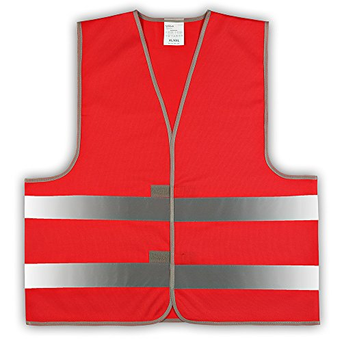 1 Stück easyMesh® Signalweste Warnweste Rot (Unisize) XL/XXL ohne Druck
