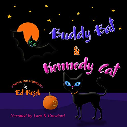 Buddy Bat & Kennedy Cat audiobook cover art