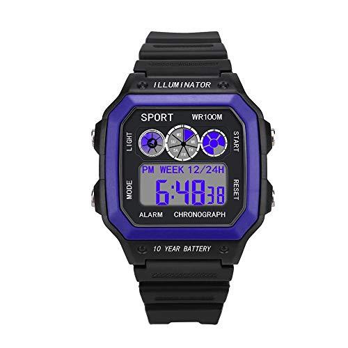 OPAKY Relojes Deportivos para Hombres Analógico Digital Militar Deporte LED Impermeable Reloj de Pulsera Resistente al Agua Digital Militares Relojes Grandes LED de analógico Relojes de Pulsera