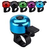 JFmall Timbre para bicicleta con sonido claro fuerte y nítido, para adultos y niños (8 colores)