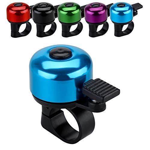 JFmall Fahrradklingel mit lautem, klarem Klang, Rennrad- und Mountainbikeklingel für Erwachsene und Kinder (8 Farben), Blau (Stil 1)
