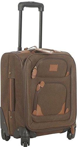 Kangol Chocolate 4Wheel Suitcase, Travel Bag, 16-Inch, Brown, Höhe: 46cm Depth 22cm Width 35cm Capacity: 20Liter Soft Faux Suede Brown)