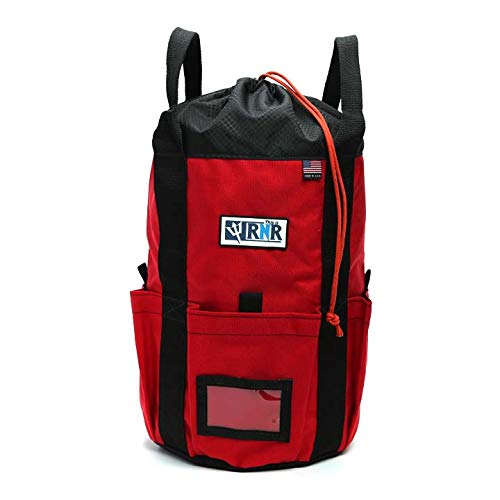 Rock N Rescue Arbor Rope Storage Bag - Rock and Tree Climbing Equipment,  Arborist Gear, Bucket Style Backpack, Waterproof Nylon Material, Red, 150'