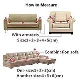 Housse de canapé épaisse en velours stretch uni pour canapé 1, 2, 3 ou 4 places,...