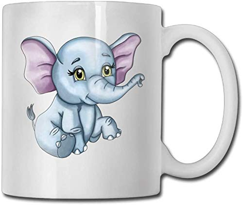 Taza de té de cerámica de doble cara Kawaii elefante personalizado tazas de café taza de té