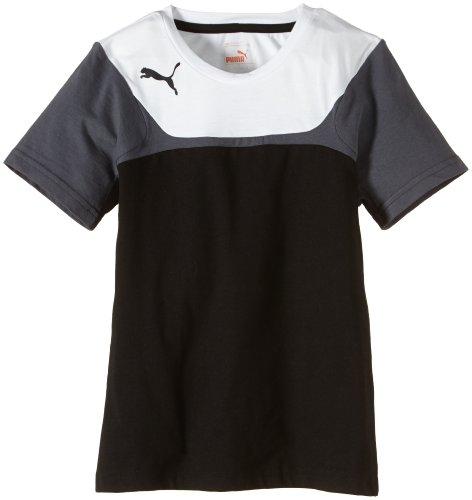 PUMA Kinder T-shirt Esito 3 Leisure Tee, Black/White, 140