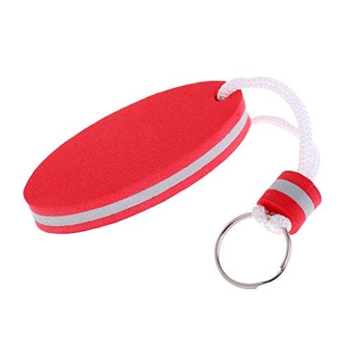 MagiDeal Mousse Porte-clé Flottant Accessoire Sécurité de Clé Idéal pour Sport Nautique Ovale Forme - Rouge, 80 x 35 mm