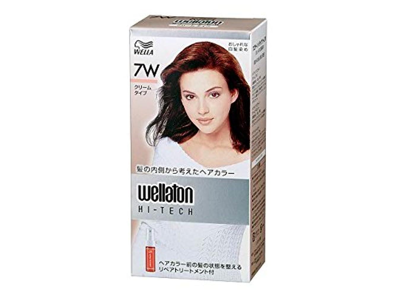 単位イディオムめる【ヘアケア】P&G ウエラトーン ハイテック クリーム 7W 暖かみのある明るい栗色 医薬部外品 白髪染めヘアカラー(女性用)×24点セット (4902565140541)