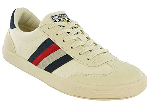 Lambretta Vulcan - Zapatillas de lona para hombre, color blanco, color, talla 42 2/3 EU