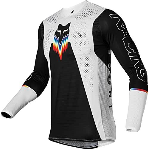 Fox Racing Herren Flexair RELM Motocross Jersey Trikot, schwarz/weiß, Large