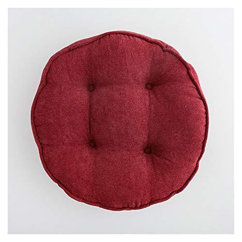 YWJFASHION Épaissir Coussin Rond futon Chaise Coussin Tapis de Plancher Coussins à Domicile Coussin de siège décoratif (Couleur : 1, Specification : 45cm)