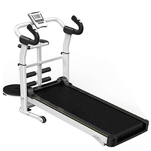 YBWEN Home Treadmill Mechanische Loopband Vouwen Ruimte Spaar Fitness Hardloopmachine Loopmachine Lopen Hardlopen Fitness Hardloopmachine (Kleur : Wit, Maat : 120x115x52cm)