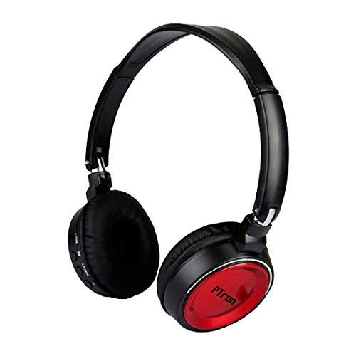 PTron Trips Kabellose Bluetooth-Kopfhörer für Smartphones Android Tablet iOS iPhone On-Ear Headphone Stereo So& mit Mikrofon Dämpfung Rauschunterdrückung