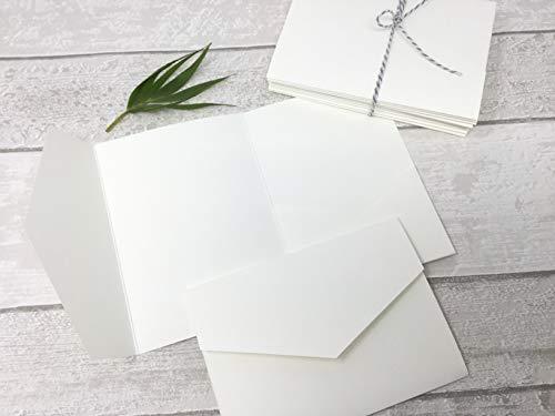 10 STÜCK Pocketfold Karten für Einladung zur Hochzeit, Kommunion, Taufe