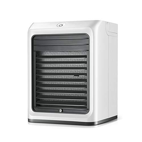Mini Plaza Ventilador Silencioso Aire Acondicionado Portátil de gran capacidad Escritorio Evaporador 3-Velocidades Humidificador para Hogar Oficina Viaje Mini Air Cooler