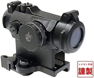 [エアガン市場謹製] リアル刻印入 Aimpoint タイプ Micro T-2 ドットサイト QDハイマウント&キルフラッシュ付 ブラック BK (日本語説明書/保証書付) (KACキャップモデル)