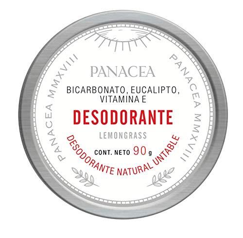 Desodorante natural de LEMONGRASS, untable de potente acción. Libre de aluminio y parabenos. Contiene bicarbonato, lemongrass, eucalipto y vitamina E. 100% ingredientes naturales, sin químicos. 90g