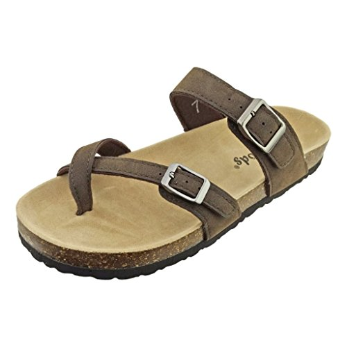 Outwoods Women's Bork 30 Brown Nubuck Synthetic Sandals 8 B(M) US