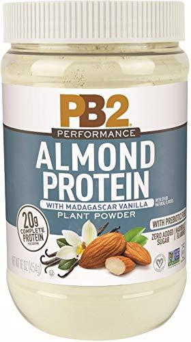 PB2 Performance Almond Protein Powder with Madagascar Vanilla  [1 lb/16 oz Jar]  20g of Vegan Plant Based Protein Powder, Non GMO, Gluten Free, Non Dairy
